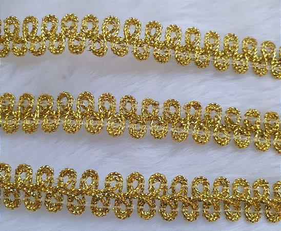 Passamanaria Dourada - 12 mm - REF: 1264 - (Venda por metro)