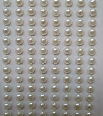 Sticker's - Autocolantes - 1/2 Pérola - 5 mm - cartela com 360 unidades