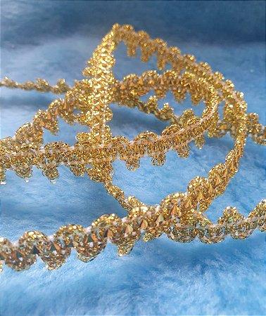 Passamanaria Dourada  - 12 mm - REF: 008 - (Venda por metro)