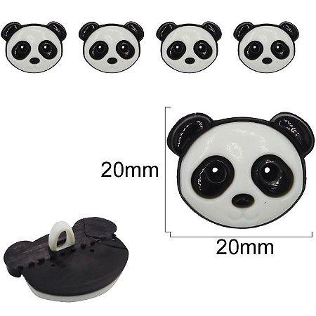 Botão Infantil Panda - 20mm - embalagem com 3 botões
