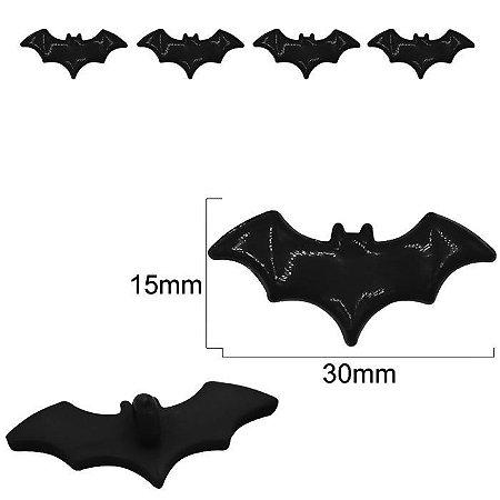 Botão Infantil Morcego - com pé - embalagem com 3 unidades