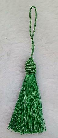 Tassel - Pingente Pompom com Tulipa - 9cm *Verde Bandeira* (venda por unidade)