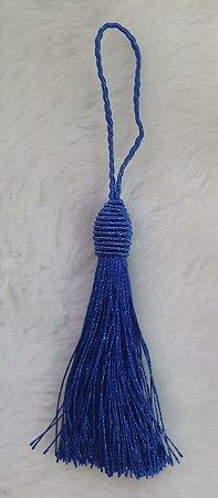 Tassel - Pingente Pompom com Tulipa - 9cm *Azul Royal* (venda por unidade)