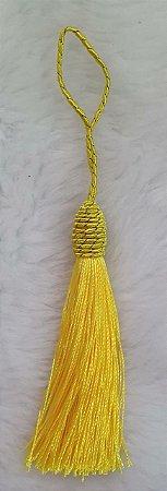Tassel - Pingente Pompom com Tulipa - 9cm *Amarelo* (venda por unidade)