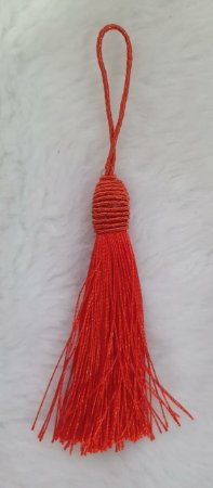Tassel - Pingente Pompom com Tulipa - 9cm *Vermelho* (venda por unidade)