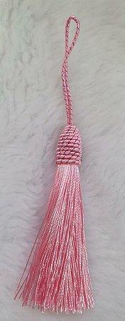 Tassel - Pingente Pompom com Tulipa - 9cm *Rosa Claro* (venda por unidade)