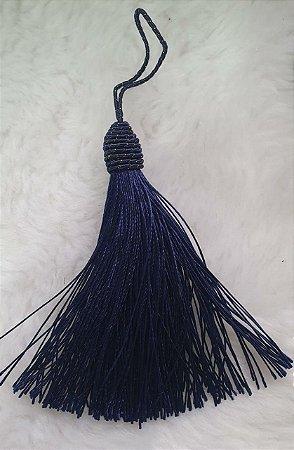 Tassel - Pingente Pompom com Tulipa - 9cm *Azul Marinho* (venda por unidade)