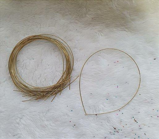 Tiara de cabelo  de metal para tubo de strass, paetê e cascalho,  1,5mm - (embalagem com 5 unidades)
