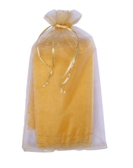 Saco de Organza Dourado - Tamanho: 20 X 35cm