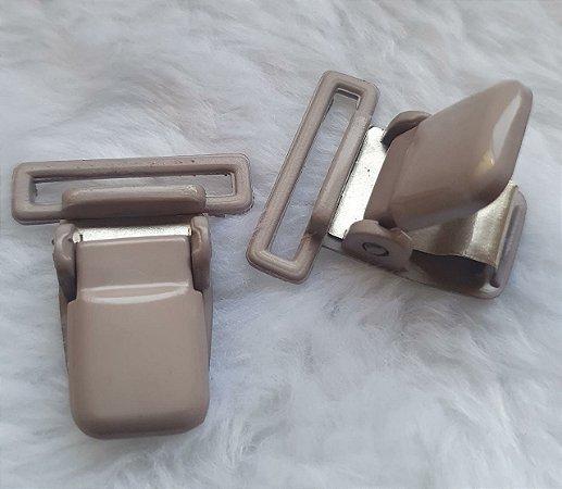 Presilha Plástica com metal (tipo jacaré) - Cinza - 37x32mm
