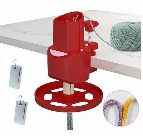 Maquina de Tricotim ABS Resistente e Durável Cor Vermelha-  TRICORD