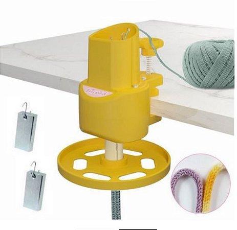 Maquina de Tricotim ABS Resistente e Durável Cor Amarela-  TRICORD