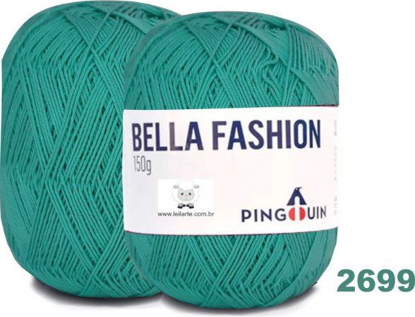 Bella Fashion , 150g, 2699 - Verde Piscina - TEX 295