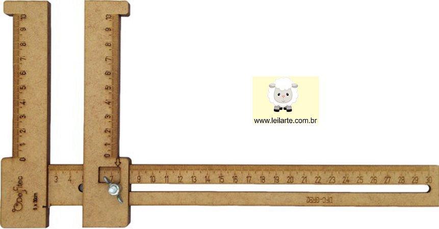Régua Gabarito Regulável Para Cabelo De Boneca - 15cm (P) e 30 cm (M)