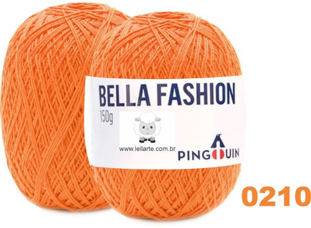 Bella Fashion , 150g, 0210 - Mandarim - Laranja - TEX 295