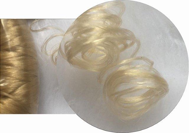 Cabelo de Nylon Ondulado tipo Kanekalon (Maço com aproximadamente 250 Gramas) - cor Loiro Claro
