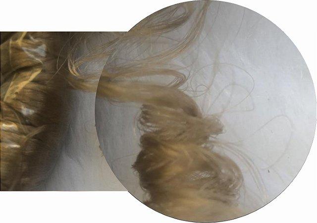 Cabelo de Nylon Ondulado tipo Kanekalon (Maço com aproximadamente 250 Gramas) - cor Loiro Escuro