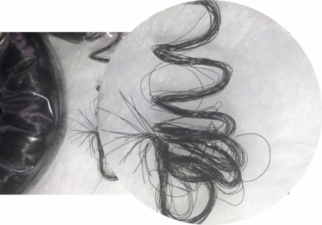 Cabelo de Nylon Ondulado tipo Kanekalon (Maço com aproximadamente 250 Gramas) - cor Preto