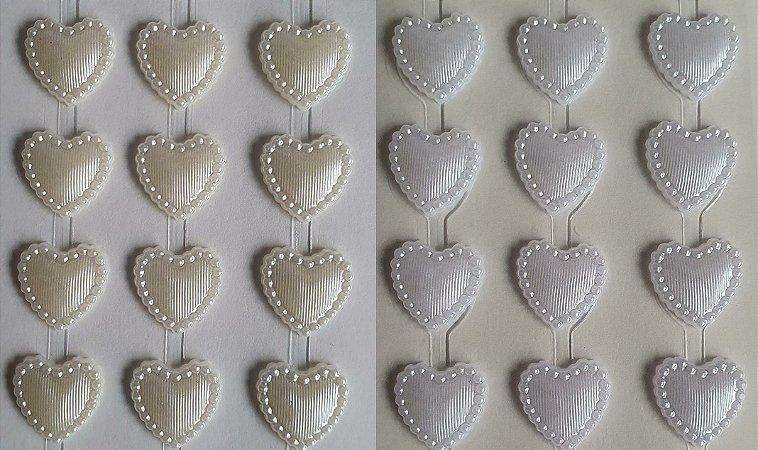 Sticker's - Autocolantes - Coração  - 15 mm - cartela com 45 corações