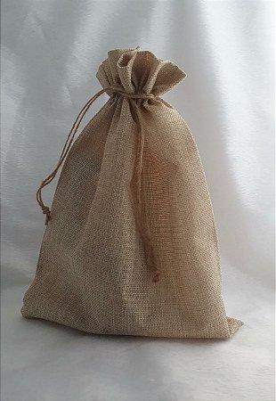 Saco de Rami  - cor Cru -  Tamanho: 25 X 35cm  - Venda por unidade
