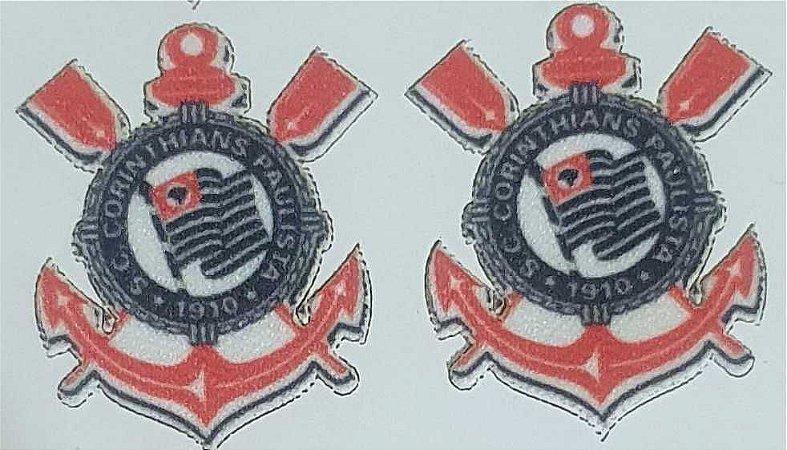 Emblema Termocolante Corinthians - Tamanho 22 x 23 mm - (Venda por par)