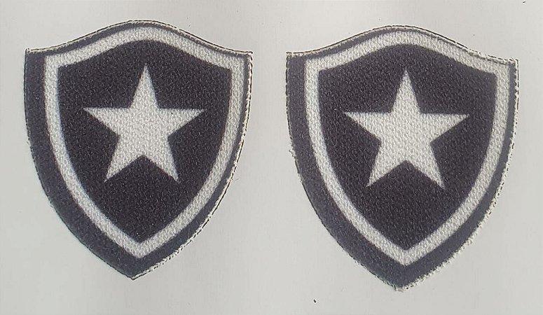 Emblema Termocolante Botafogo - Tamanho 21 x 25 mm - (Venda por par)