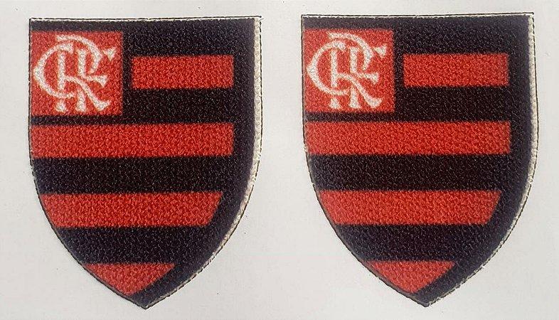 Emblema Termocolante Flamengo - Tamanho 30 x 20 mm - (Venda por par)