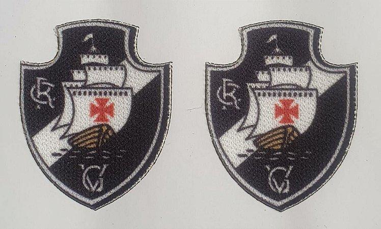 Emblema Termocolante Vasco da Gama - Tamanho 26 x 21 mm - (Venda por par)