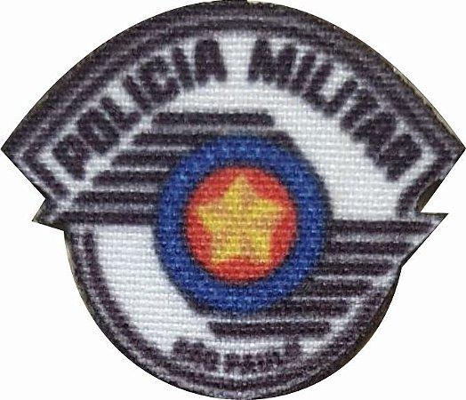 Emblema Termocolante Polícia Militar - Tamanho 23 mm - (Venda por par)