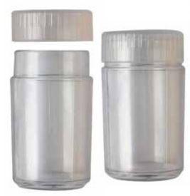 Frasco plástico para mini e micro botões - 4,5 cm altura, 2,5cm diâmetro
