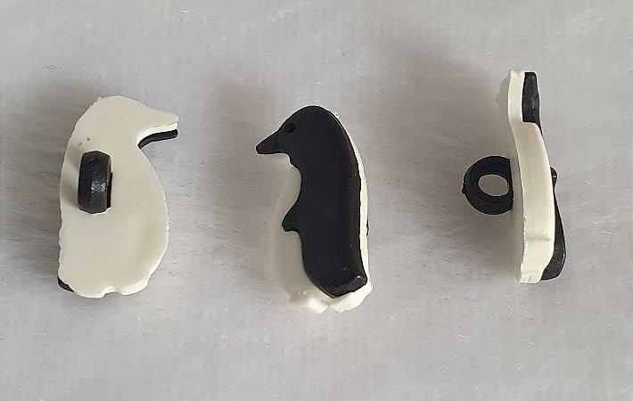 Botão com pé Pingouin, Pinguim  - 20mm x 10mm - Embalagem com 6 unidades