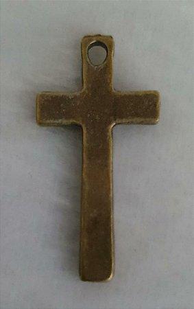 Pingente Cruz Ouro Velho chapada - 22x13mm * embalagem com 3 unidades*