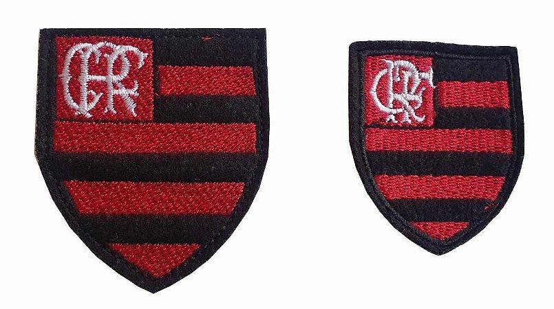 Brasão do Flamengo Bordado - Patch - Dois tamanhos: (Tam. P: 4,8 de largura x 5,2 de altura) - (Tam. G: 6,2 de largura x 7,0 de altura) *Venda por unidade*