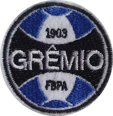 Brasão do Grêmio Bordado - Patch - Medida: 5,7 de diâmetro - *Venda por unidade*