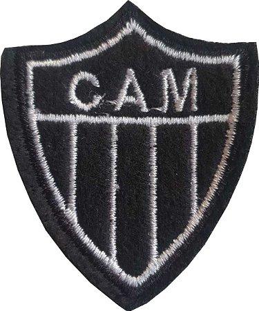 Brasão do Clube Atlético Minéiro - C.A.M. (CAM) - Bordado - Patch - Medida: 4,5 de largura x 5,0 de altura - *Venda por unidade*
