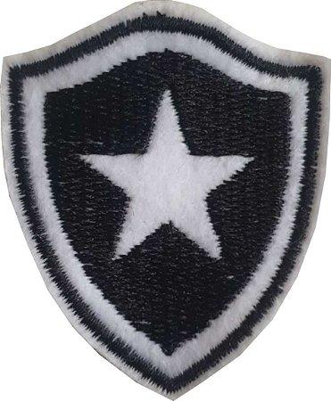 Brasão do Botafogo - Patch - Medida: 5,0 cm de largura x 5,6 de altura - *Venda por unidade*