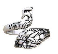 Dedal anel Pavão cor prata - Para trico e crochê - Venda por Unidade