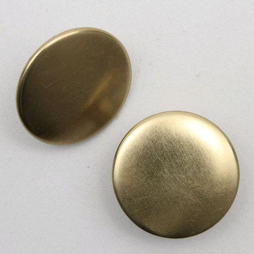 Botão Fixo Eberle 17 mm Liso Dourado - Embalagem com um par