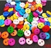 Botão Colorido 9 mm *Pacote com 30 botões cores aleatórias*