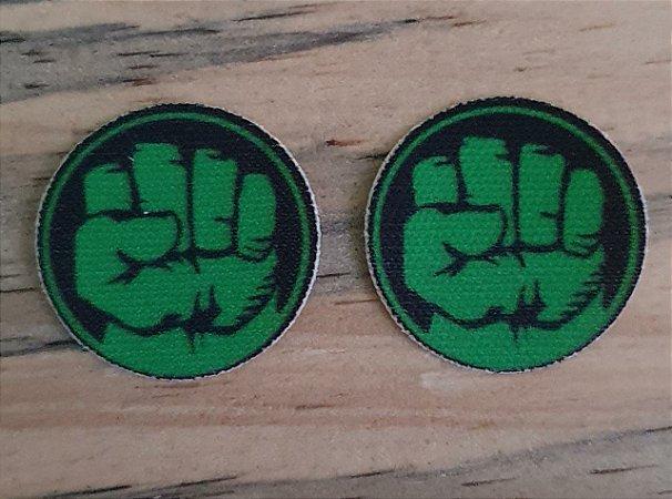 Emblema Termocolante HULK - Tamanho 23 mm - (Venda por par)