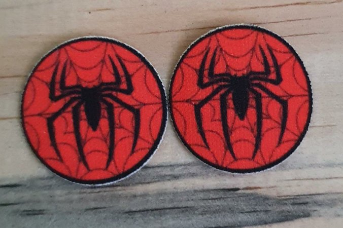 Emblema Termocolante Homem Aranha-  Tamanho 23 mm - (Venda por par)