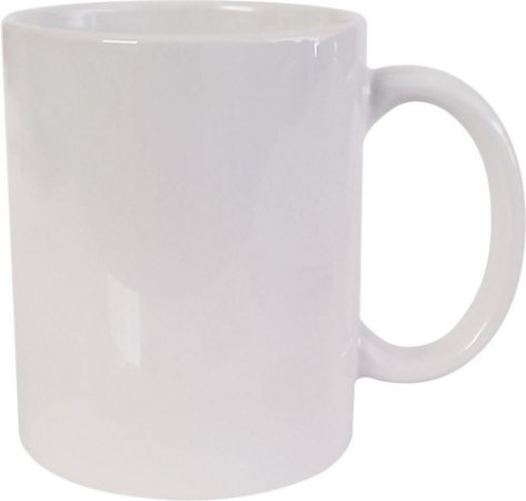 Caneca Porcelana 325ml Branca Mundi
