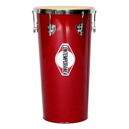 """Rebolo Tantan Contemporânea 11"""" 55cm Vermelho Alumínio"""