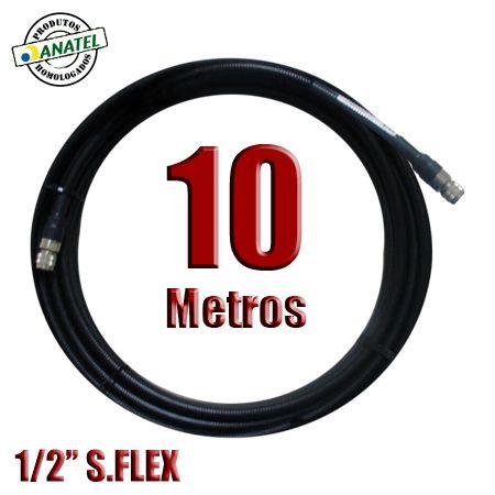 "KIT INTERLIGAÇÃO CABO CELLFLEX SUPERFLEXIVEL 1/2"" 10 METROS N MACHO X N MACHO"
