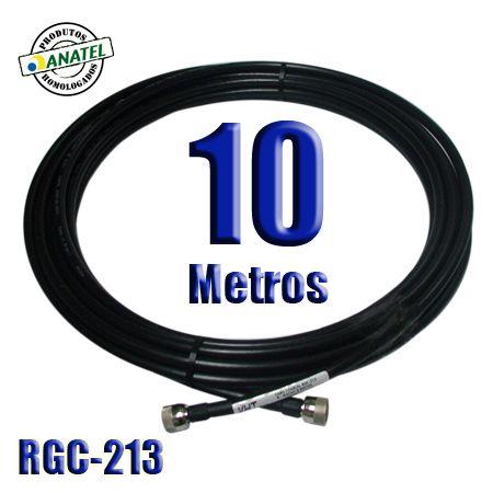 KIT INTERLIGAÇÃO RGC-213 DE 10 METROS N MACHO X N MACHO