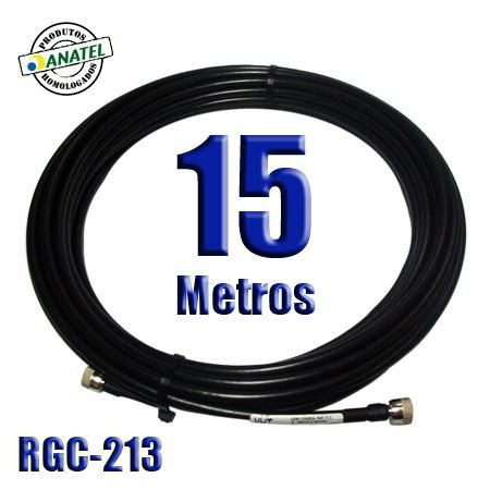 KIT INTERLIGAÇÃO RGC-213 DE 15 METROS N MACHO X N MACHO
