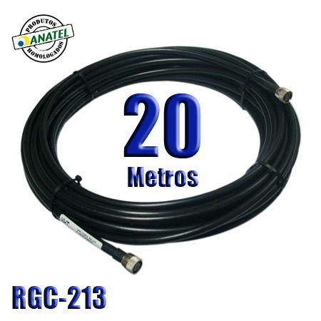 KIT INTERLIGAÇÃO RGC-213 DE 20 METROS N MACHO X N MACHO