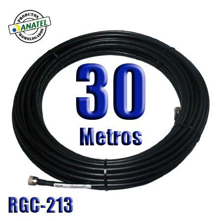 KIT INTERLIGAÇÃO RGC-213 DE 30 METROS N MACHO X N MACHO