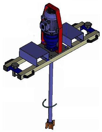 Misturador Agitador para Tanque IBC Moto Redutor Elétrico