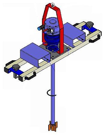 Misturador Agitador para Tanque IBC Moto Redutor Pneumático